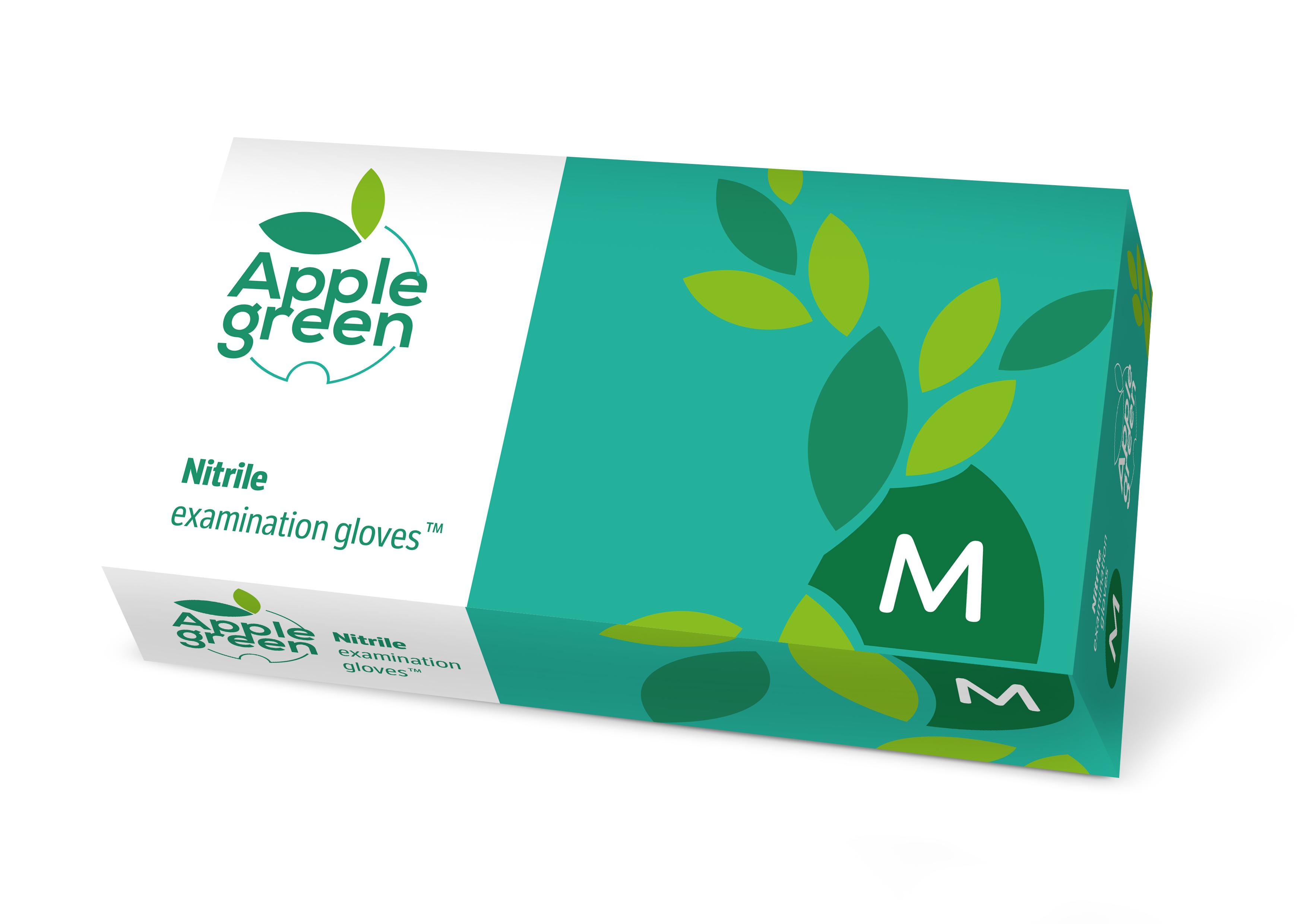 Rękawice nitrylowe zielone APPLE GREEN